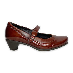 Naot Brown Leather Mary Janes Heels Size 6
